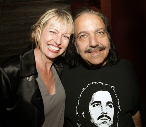 Linda Derschang at Lindas last year, when Ron Jeremy stopped by.