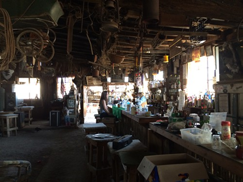 Inside the saloon/shed.