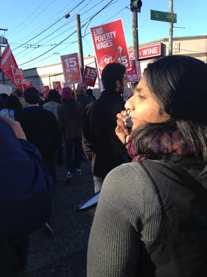 Seattles Socialist City Council member Kshama Sawant in a quieter moment. Yes, Sawant is a passionate fighter. But she is also thoughtful, and we dont always want to picture her with a bullhorn.