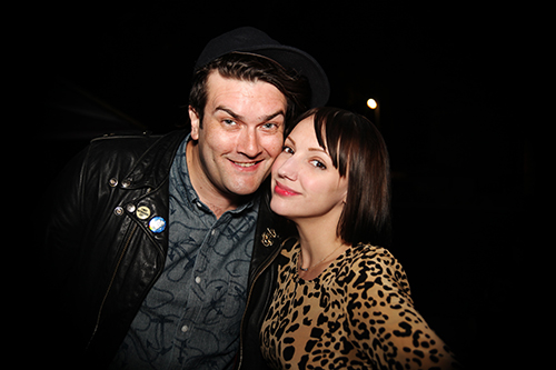 Manager of memes, Ben Lashes, with his lovely lady, Heather