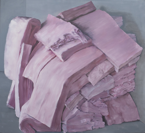 Insulation, 2014, oil on canvas, 45 by 60 inches.