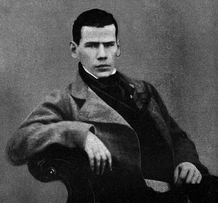 LEO TOLSTOY, AGE 20  Nine years before watching a beheading in Paris.