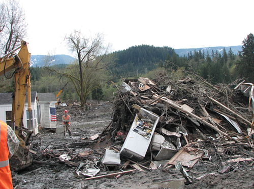 People in the debris field said an Oso man saw this fridge in another news photo and knew it was his because of its contents.