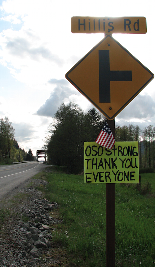 The road out of Oso.