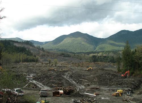 The debris field.