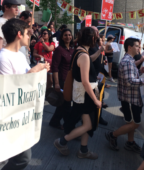 Kshama Sawant, marching with the people.
