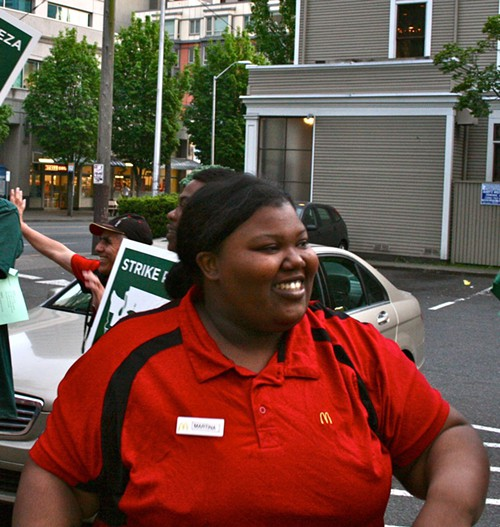 Martina, who walked off her job at the First Hill McDonalds yesterday evening.