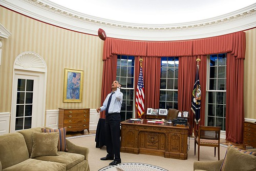 President Obama in the Oval Office. This morning, he accepted the resignation of Veterans Affairs Secretary Eric Shinseki in the face of a growing scandal over medical care for veterans.