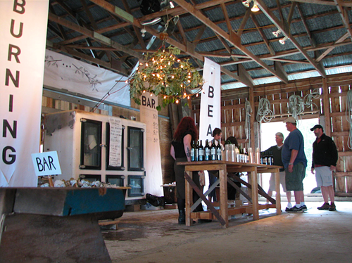 A BAR IN A BARN It is the best kind of bar of all.