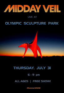 Midday Veil will be at the Olympic Sculpture Park this Thursday