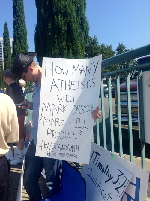Some Christians protesting Mars Hill are concerned that Driscolls style is driving people away from Christianity instead of bringing them towards it.