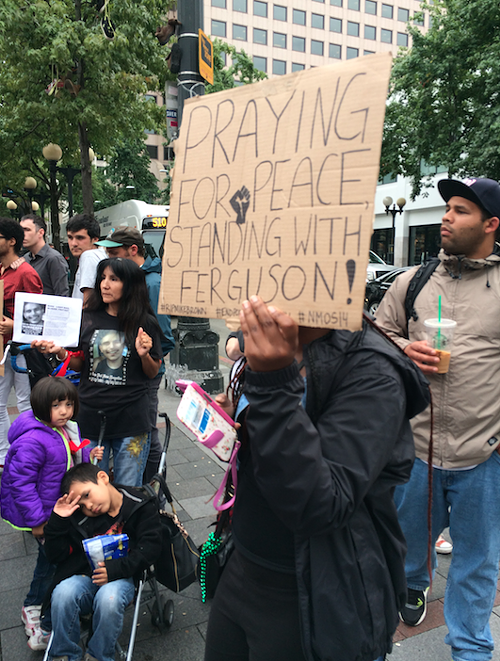 Praying for peace, standing with Ferguson