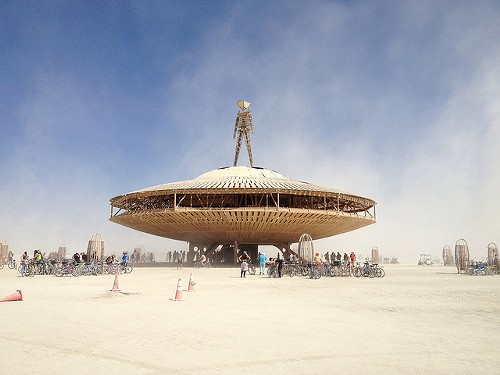Burning Man has a money-free policy, although it takes a lot of money to organize.