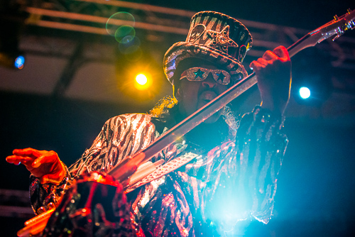 Bootsy Collins, keeping it funky.