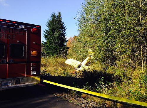 One person died and one person was injured in this plane crash at Lake Stevens over the weekend.