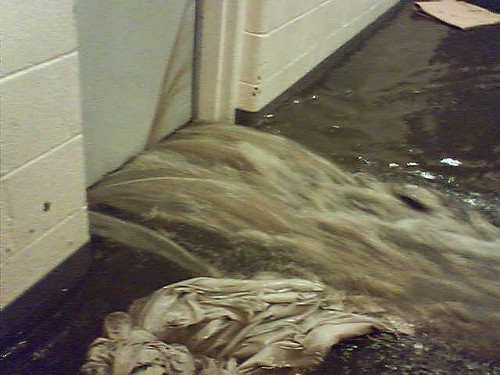 Flooding at the juvenile detention center circa 2007.