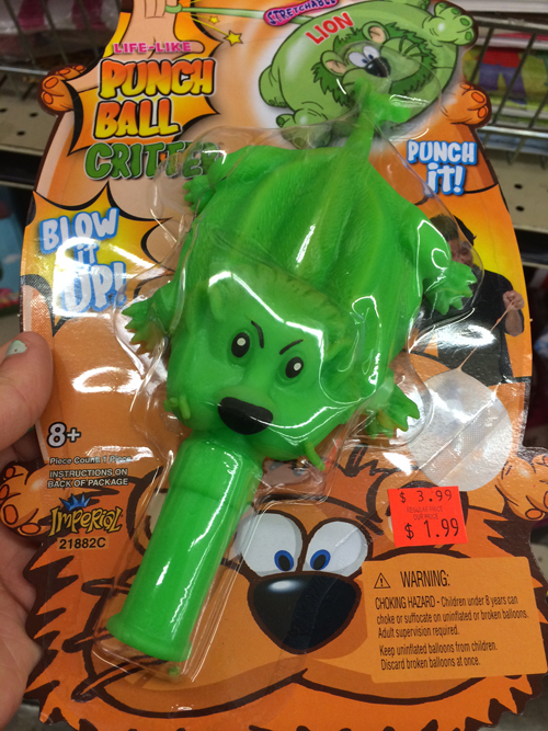 Lion Punch-Ball Critter: For kids who have never seen a lion, but hate them anyway.