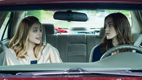 Keira Knightley, pretending to be on Orcas Island but actually just driving around with Chloë Grace Moretz.