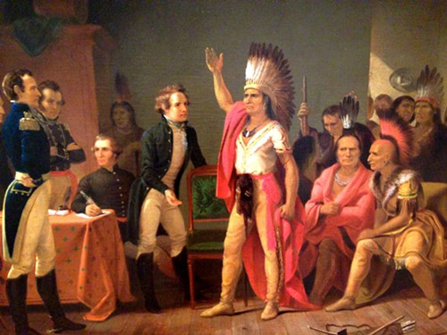 The Tecumseh and Harrison painting, 40 years after the event it depicts.