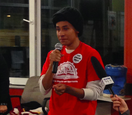 A youth activist at Casa Latina says though my heart breaks for those who dont qualify, this is a victory for Latinos in America. If it werent for our voices, president Obama wouldnt have done this.