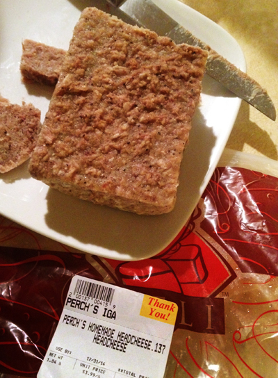 12. And last, but NEVER LEAST—Homemade Head Cheese