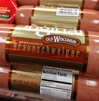 11. Spreadable Braunschweiger