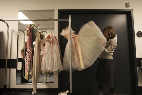By the time the curtain fell at 7:43 pm, Rita Brown and the other union dressers were already doing their own quick-stepping backstage, speedily packing costumes into crates. By 8:15, almost all the costumes were put away. By 8:30, everybody was headed home.