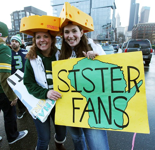 I think even these brave cheesehead sisters had fun!