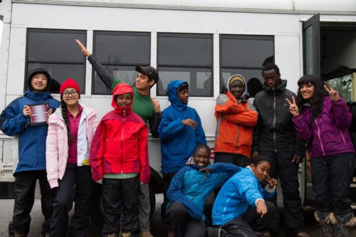 Deepa Bhandaru, the teacher whose lesson sparked calls for protest (right), on a field trip with some of her students to Snoqualmie Pass.