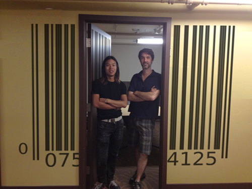 OpenLabel co-founder David Ng (left) and CEO Scott Kennedy (right).
