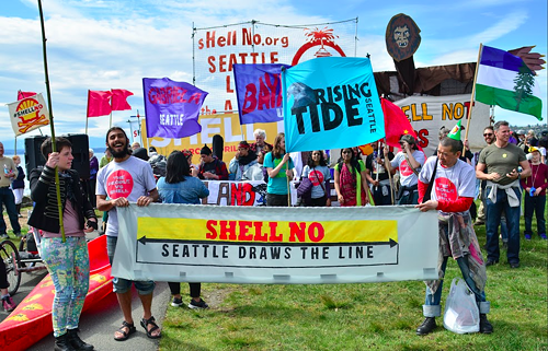 The anti-Shell party hats added a nice touch.