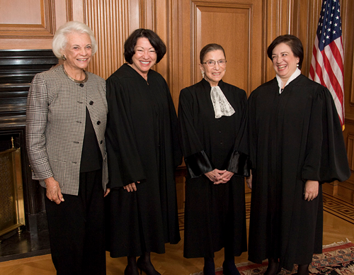 Celebrating the wedgie Ruth Bader Ginsburg just gave to Chief Justice John Roberts.