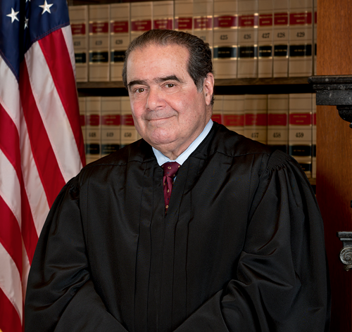 Food critic Justice Scalia called gay marriage arguably unpalatable.