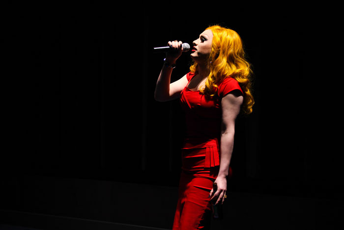 Jinkx gave a three song live performance before the lights went down the the film began.