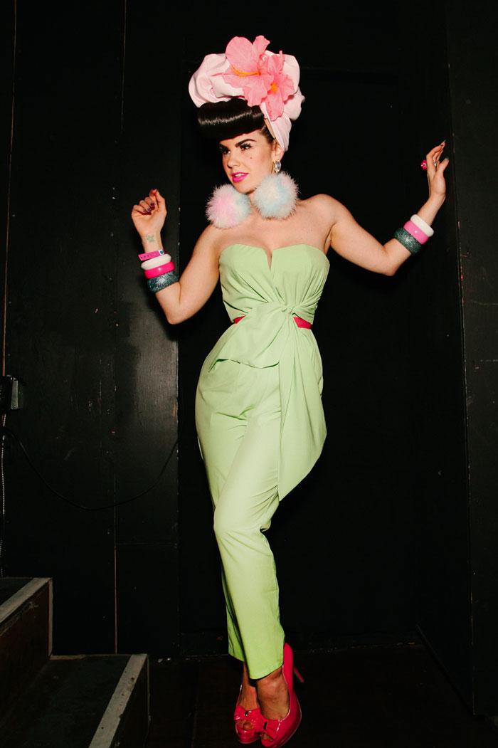 Kitty Kitty Bang Bang, who had a song in the film, strikes a pose at Re-bar.