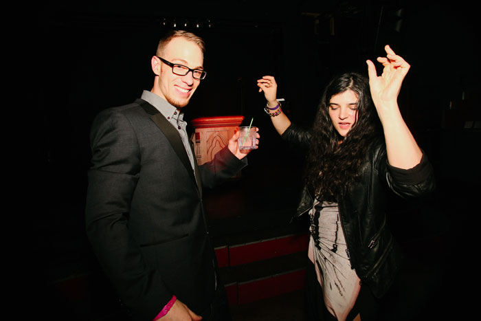 Alex Berry, who directed Drag Becomes Him, boogies down on the dance floor to celebrate his resounding success.