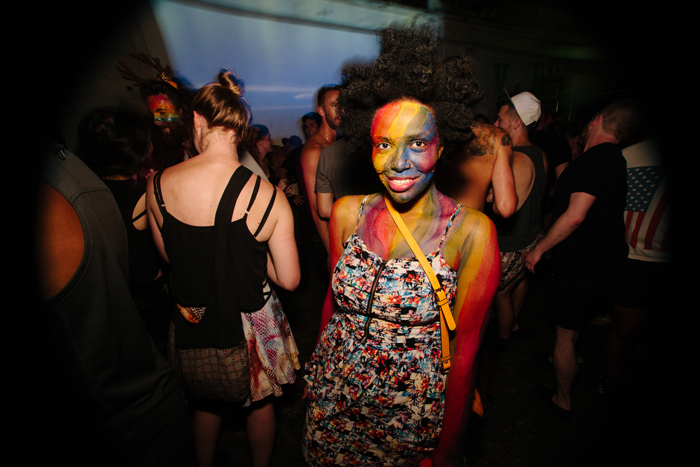 This babe was sporting that rainbow spirit from head to toe.