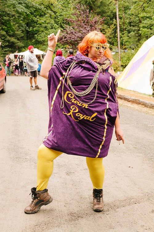 Some of the looks were not at all serious, with many festival attendees just letting their freak flag fly.