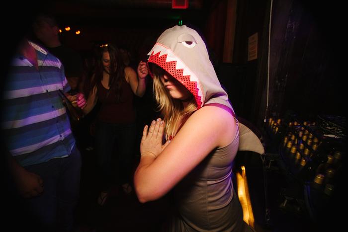 Riley as shark