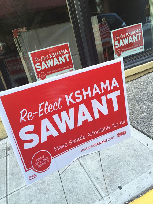 At the Sawant party at Melrose Market Studios.