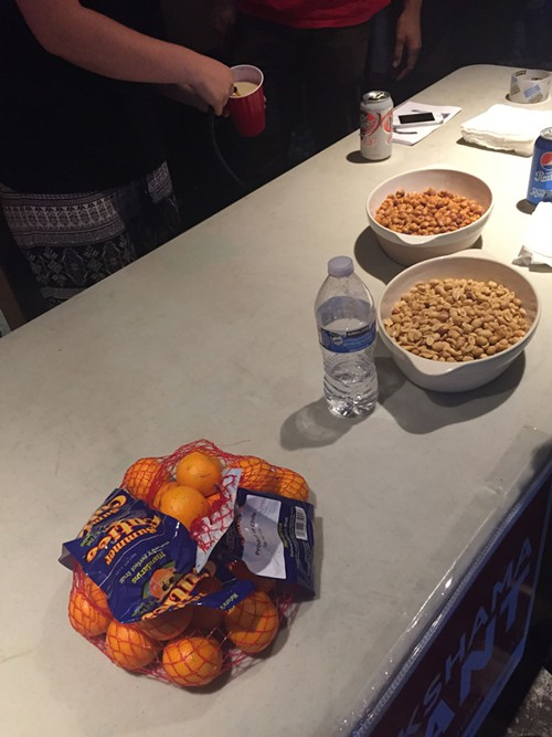 This is not a snack table for the people.