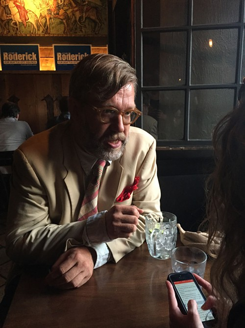 John Roderick talking to the SECB after he apparently failed to make it through the primary and into the general election.