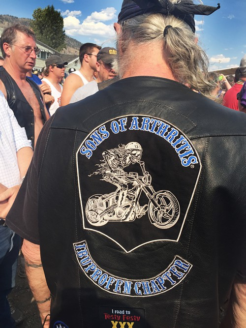 Old biker back patch: Sons of Arthritis—The Ibuprofen Chapter