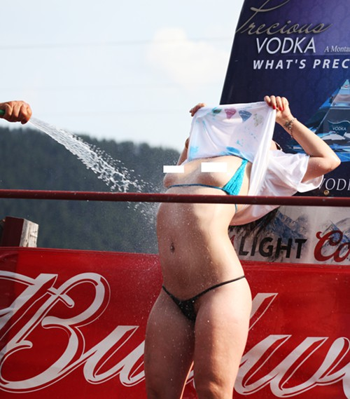 I loved every single one of the brave ladies in the wet t-shirt contest
