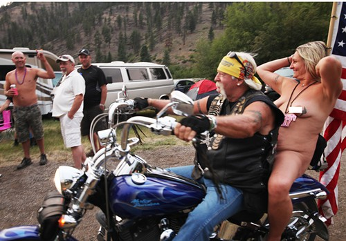 This biker chick made the whole festival for me. Shes free and doesnt give one f*ck what you think about her
