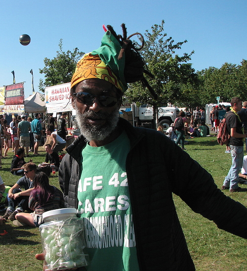 Aminifu from the First Church of Rasta in Los Angeles.