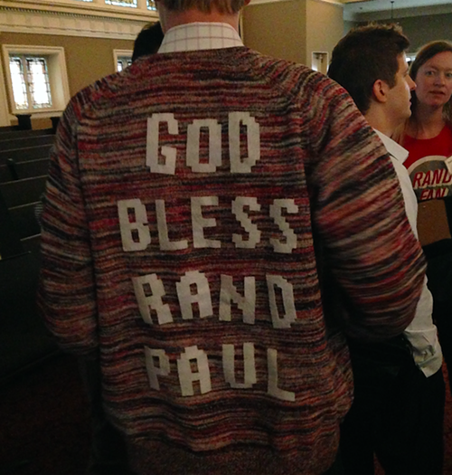 This guy was making a lot of new friends with his sweater, though.