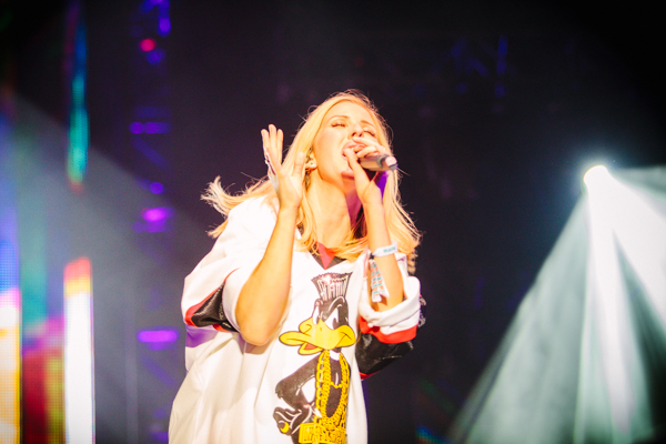 Ellie Goulding closes out Memorial Stadium on Sunday night.