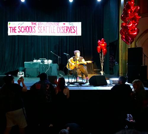 Kimya Dawson performing last night. She was wonderful, says Ansel, who was there.