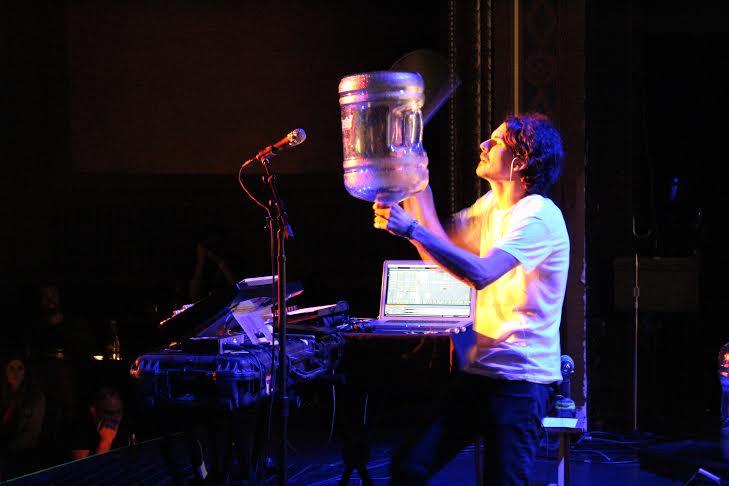 Eskmo, master of makeshift percussion.